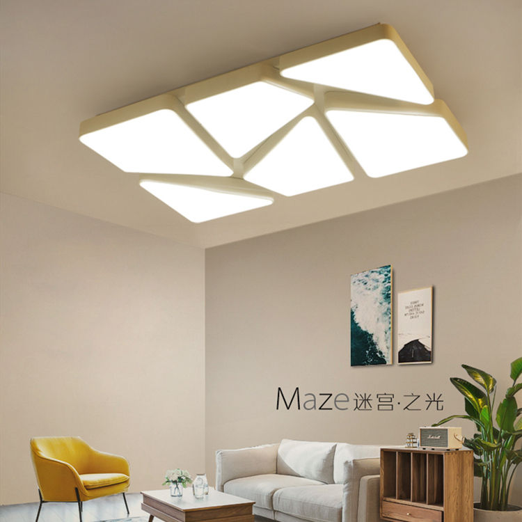 Smart Dimmable Modern Yang Unik Permukaan Dipasang Puzzle CCT Berubah Square LED Ceiling Light