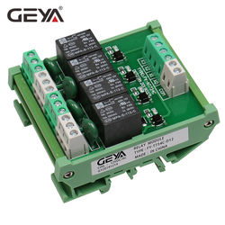GEYA FY-T734 DIN Rail Mount 4 Channel Relay Module 1 SPDT 5V