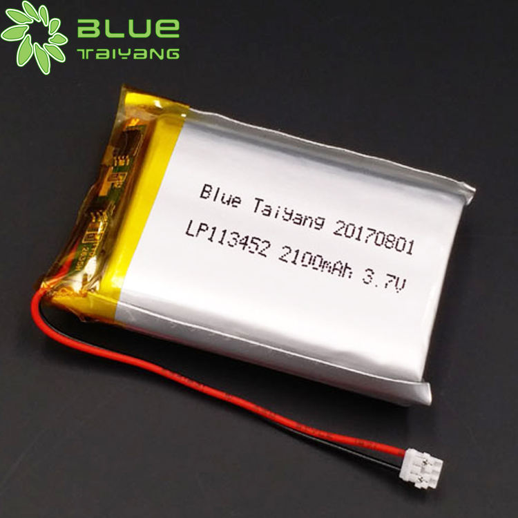 113452 2100mah 3.7v beauty equipment lithium battery medical equipment with MSDS certification