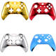Chrome Front Housing Shell Case Cover Faceplate for Microsoft Xbox One S & Xbox One X Controller Replacement Repair Parts