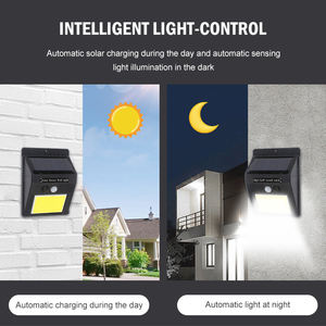 NEWORB Energy Saving Mini Home Security Led Outdoor Solar Wall Light With Motion Sensor