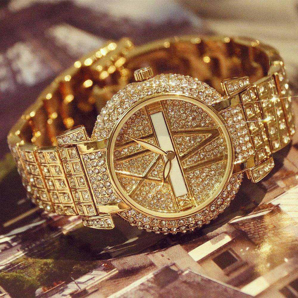 2019 New Arrival Luxury Women Watches Famous Brand Elegant Dress Quartz Watches Ladies Rhinestone Wristwatch Relojios Femininos