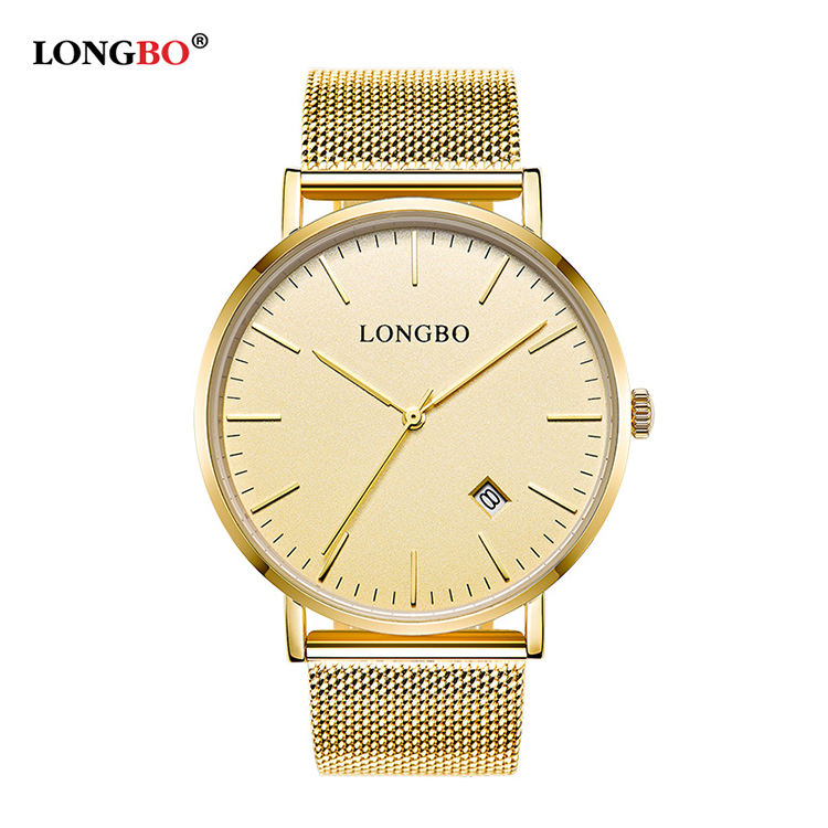 LONGBO 5009 High Quality Unisex Quartz One Piece Band Watches Stainless Steel Watch Band