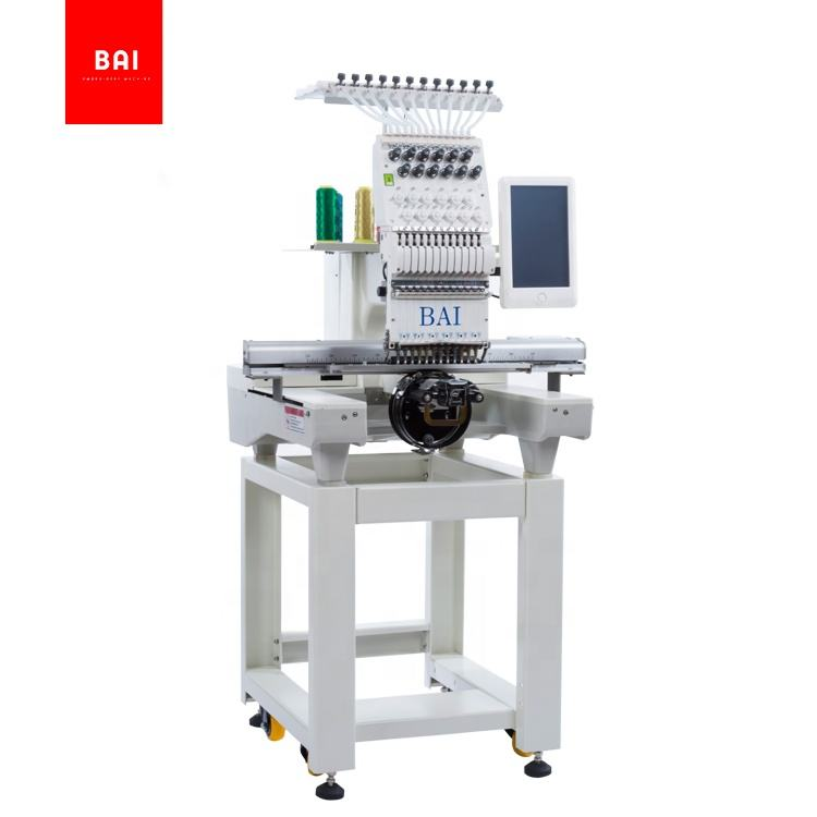 BAI High performance multi function single head hat flat garment computer embroidery machine