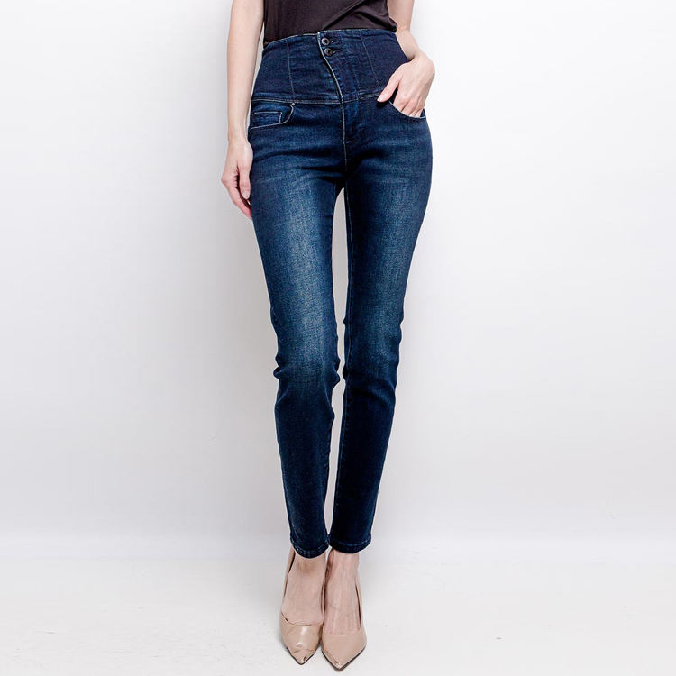 2020 new design of women jeans high elastic waist trousers sexy back zipper design jeans