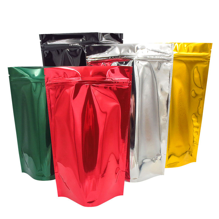 resealable kraft paper laminated aluminum foil plastic bags/tea/coffee/food package for packaging