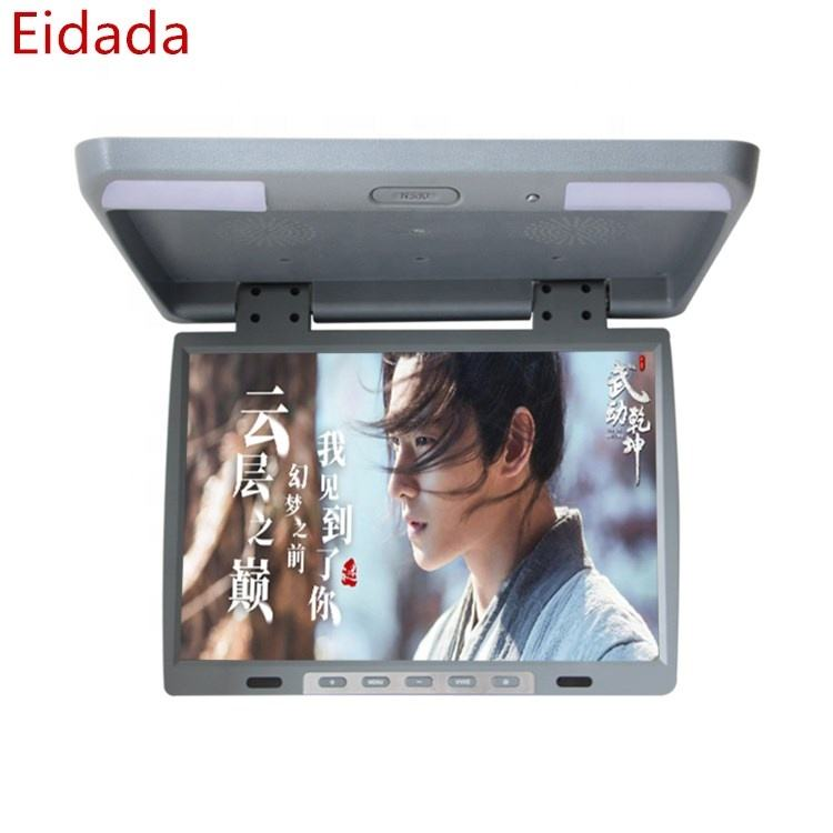 Eidada 9 10.1 12 13 15 17 19 22inch Roof mount Flip down monitor / Car Ceiling Mounted Monitor Bus LCD TV