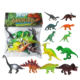 juguetes al por mayor brinquedos 4 to 6 inches toy plastic dinosaur model for children