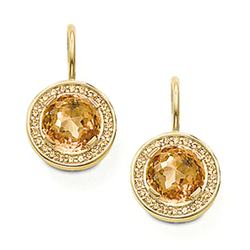14K Gold Filled Earring Stud, Gemstone Gold Jewellery Design