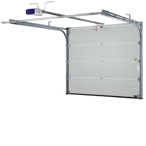 CE attested motorized automatic thermal insulated steel vertical lifting sectional door for garage or loading docks Europe