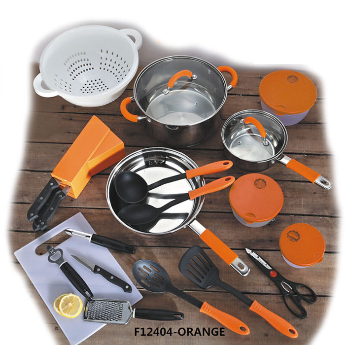 24 pcs all in one induction kitchen cookware