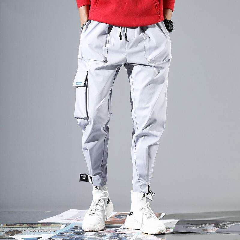 Cargo Pants Wholesale 2020 Black Multiple Pockets Jogger Pants Casual Male Sweatpants Hip Hop Loose Sports Workout Trousers Men