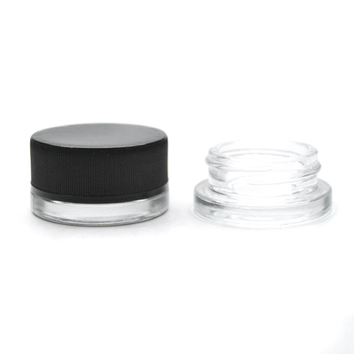 3ml 5ml 7ml 9ml Glass Storage Jar with Child Proof Cap