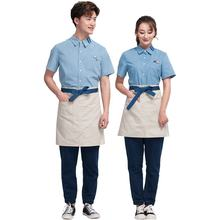 wholesale TOP sale short sleeves restaurant uniforms designs waiter waitress uniform work shirts uniforme mesera