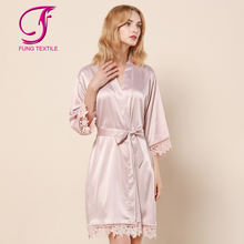 FUNG 3031 Sexy lace dressing gown   Silk Robe Bridesmaid  Bathrobes