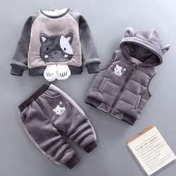 2020 Guangzhou warm long sleeve hooded collar breathable wholesale animal cute sweet 6-60 months winter boys girls clothes