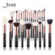 Jessup 25pcs/set Five Colors Professional Makeup Brushes Set Aluminium Ferrule Wooden Handle Cosmetic Brushes