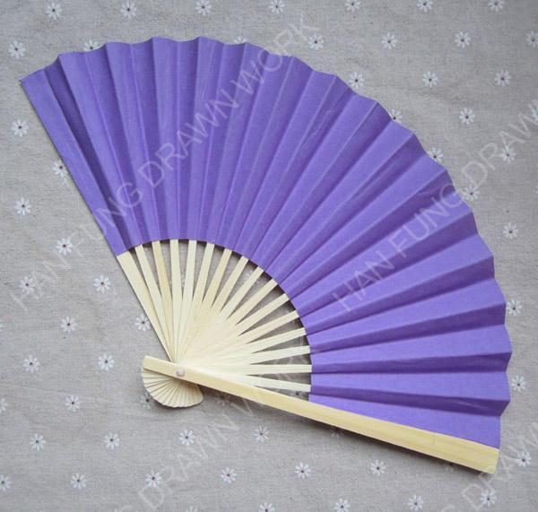 Elegante ventilador de mão de madeira do ofício de papel de dobramento de <span class=keywords><strong>casamento</strong></span> branco