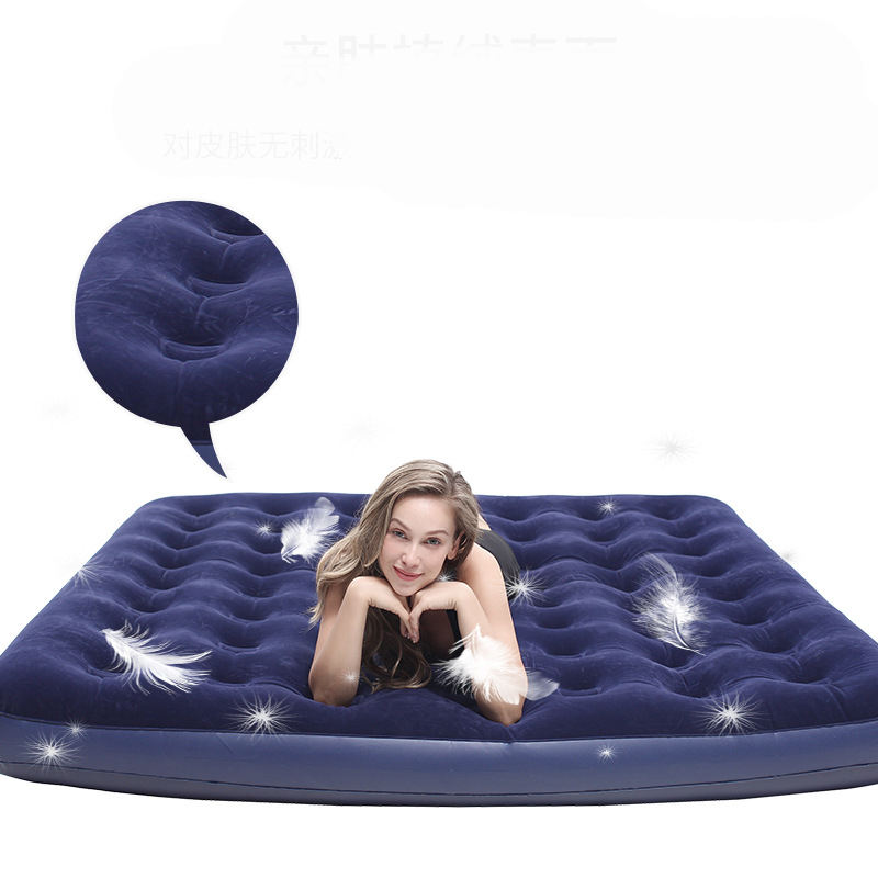 Cheap Double Flocking Bestway Mattress Outdoor And Indoor Self inflatable air bed mattress