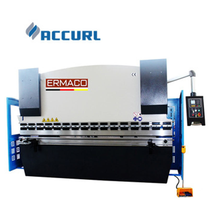 Accurl brand 125tons hydraulic press brake , 4 meter bending machine with safety fence