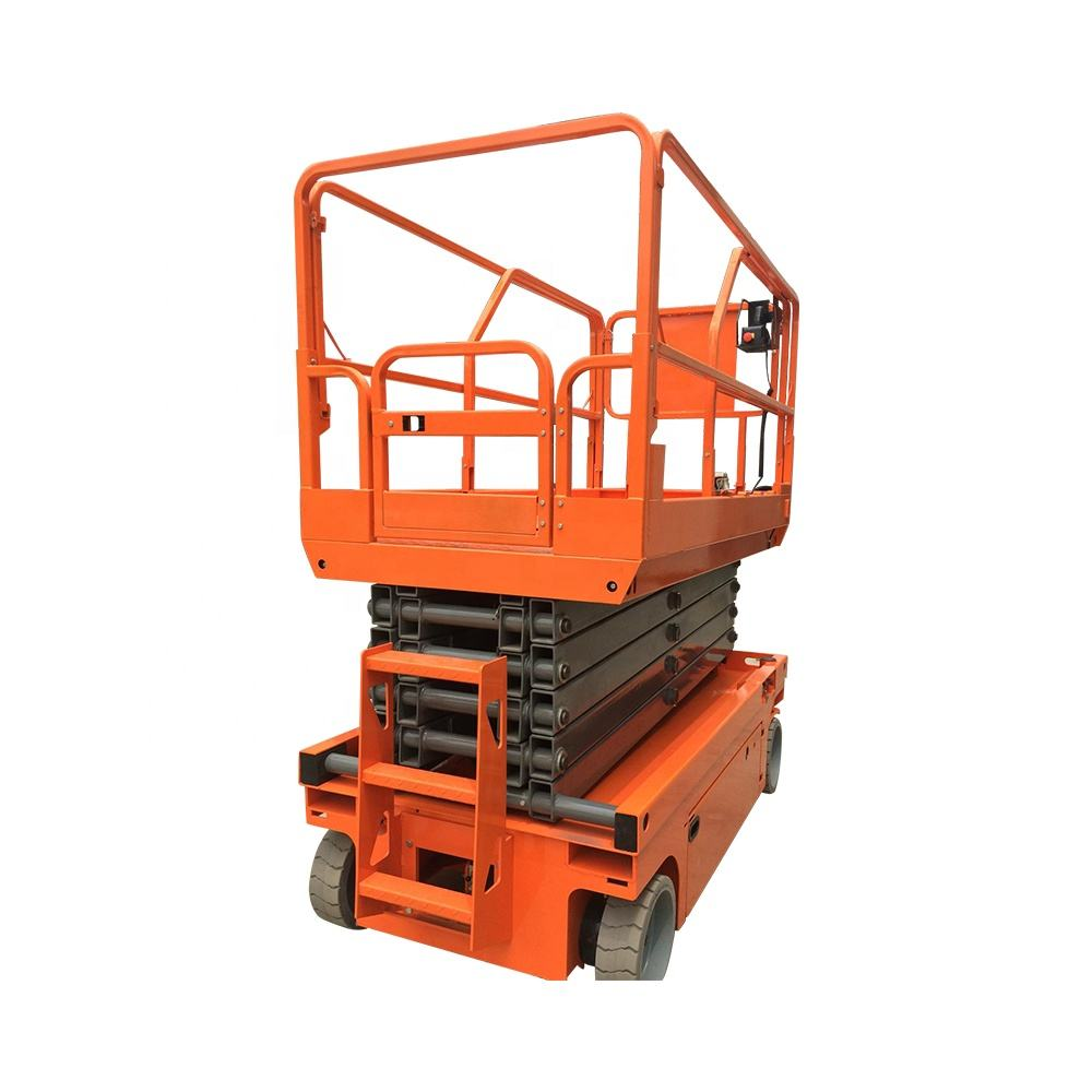 Electric scissor lift aerial work platform walk floor for cranes