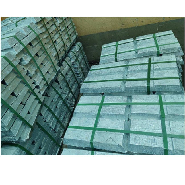 China Fabriek Metalen Zuiver Zink Ingot99.999 % Zn99.999 % In China