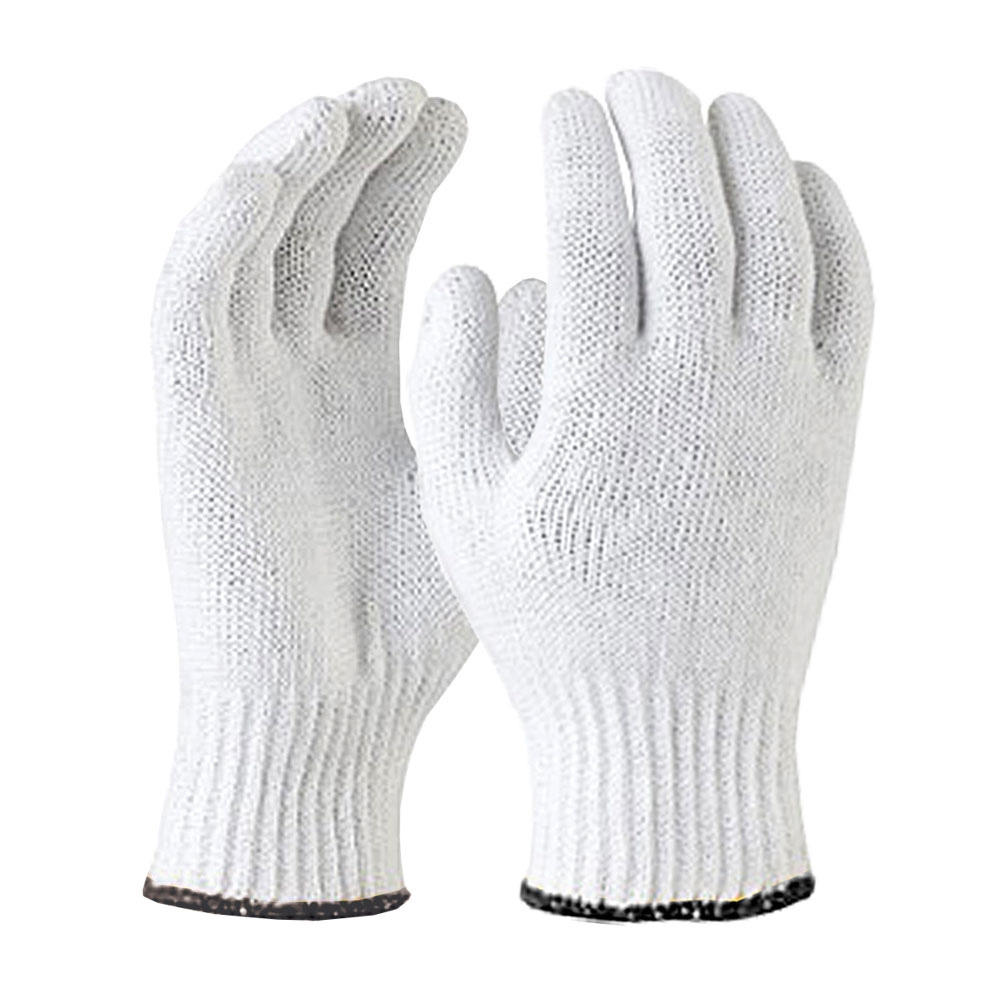 Cheap white cotton gloves with rubber dots on palm