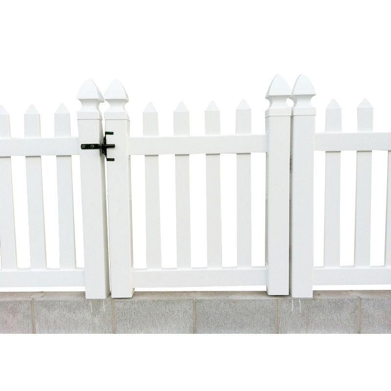 The original factory exports high quality hot selling white plastic yard gates fence gate
