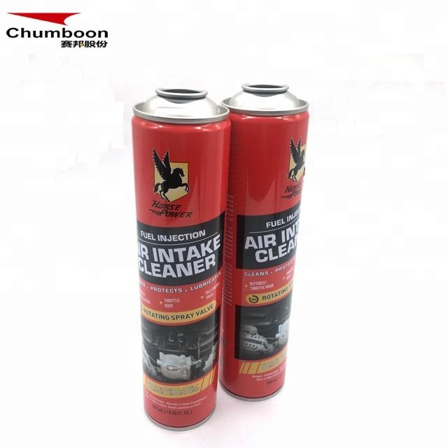 Formaldehyde clear empty spray foam cleaner flocking in a can