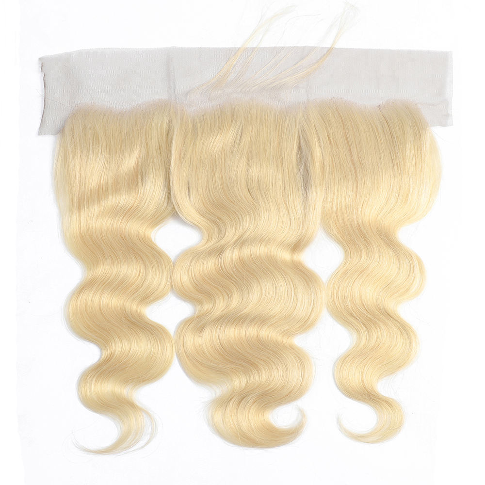 Hair Body Wave Frontal Medium Blond 613 Color Swiss Lace Frontal 13 by 4 Remy Malaysian Hair 13x4 Lace Frontal Body Wave