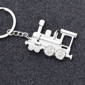 Hot sale cheap promotion train key chain metal keychains locomotive key chain