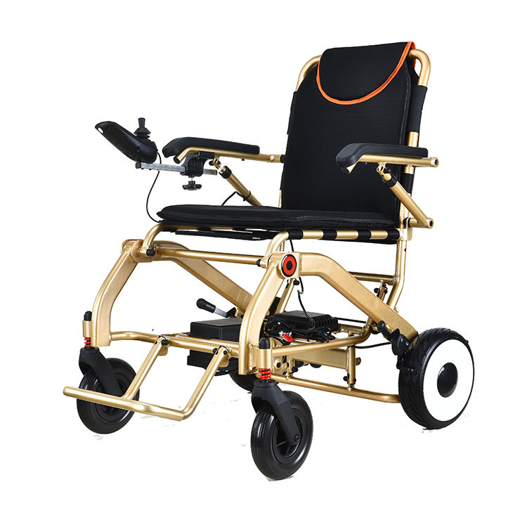 Lithium Battery Powered Lightweight Portable Electric Wheelchair
