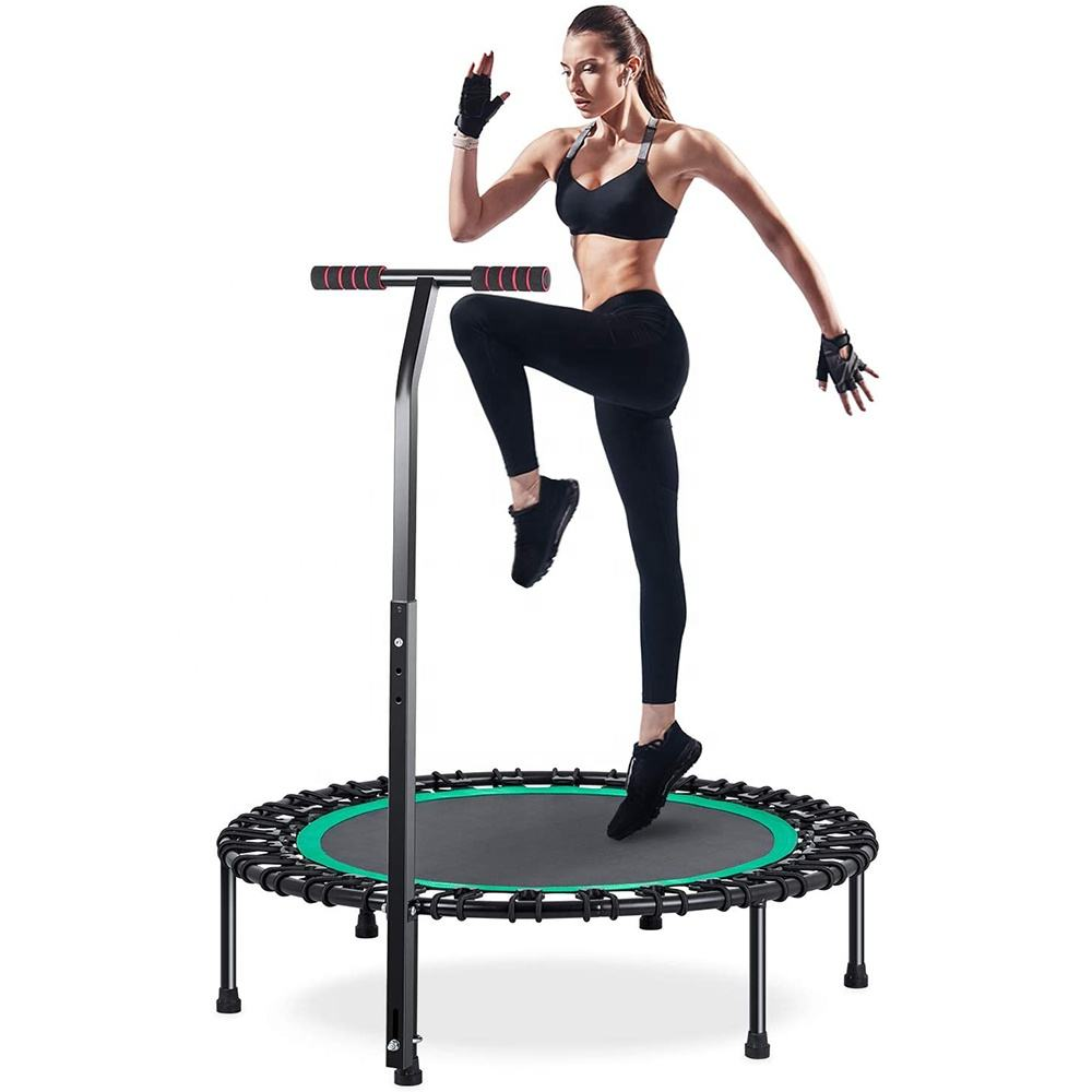Foldable Trampoline Rebounder 48 Inch Fitness Trampoline for Kids Adults Workout Rebounder Jumping