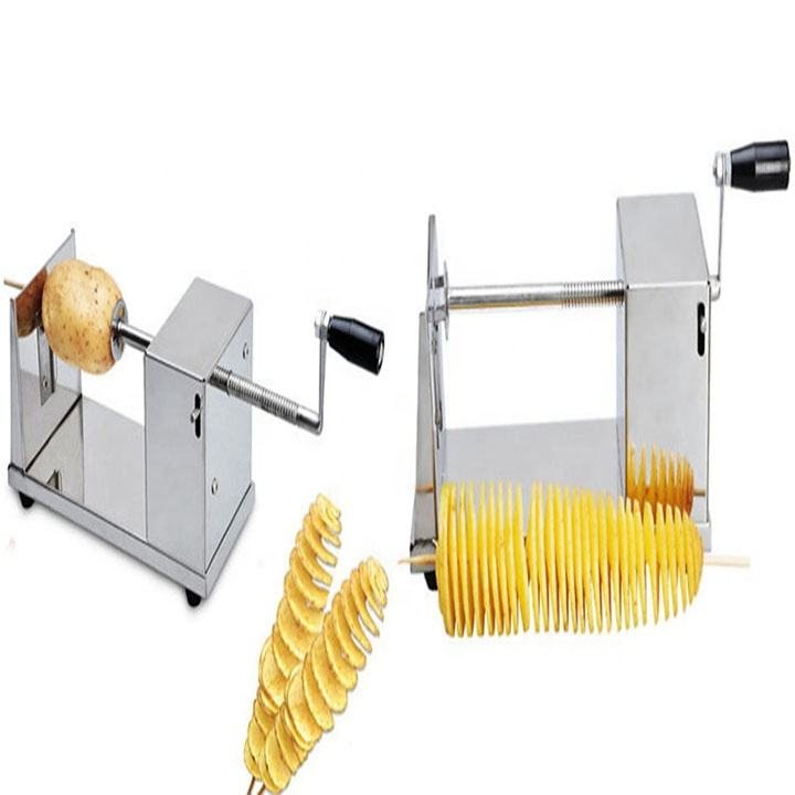 Factory direct sales small scale potato spiral slicer cutter twister maker machine
