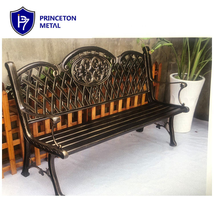 lounge cast bronze antique slatted designer aluminum park furniture metal work seating aluminium patio outdoor garden bench