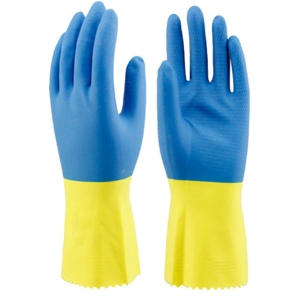 Kseibi Double Color silicone rubber household gloves