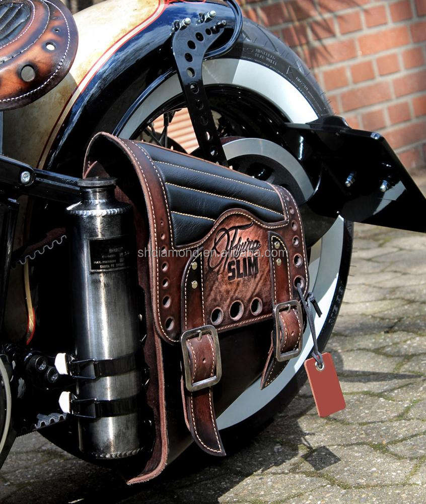 Hharley davidson fuel Sacoche vintage/HD scrambler dyna leather swing armbag reservior/chopper Flying Slim bobber satteltaschen