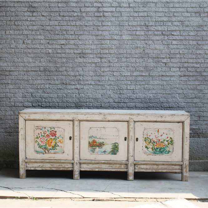 Chinese Wholesale Hand Painted Furniture Recycle Wood Antique Style Furniture