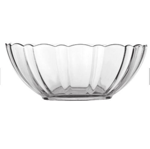 wholesale clear glass bowl breakfast fruit salad bowl for kitchen ware