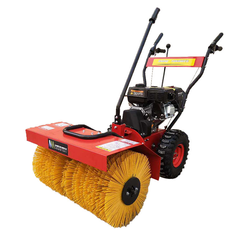 car gas powered snow sweeper blower small tractor