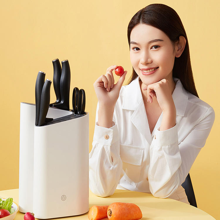Kitchen appliances smart disinfect chopsticks uv knife holder