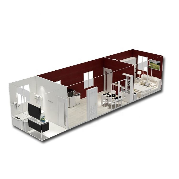 Prefab shared bathroom&toilet/ public facility/20ft 40ft container house/ more option room/ porta cabin made in china