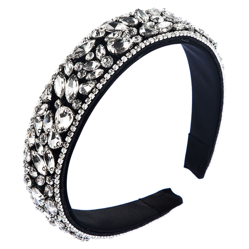 Large Fashion Women Bling Head band Luxury Thick crystal hair bands Padded Rhinestone Headbands