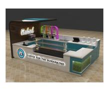 Hot sale mall coffee bar booth for fruit juice counter design ideas|bubble tea retail kiosk supplierIsnack shop in mall for sale