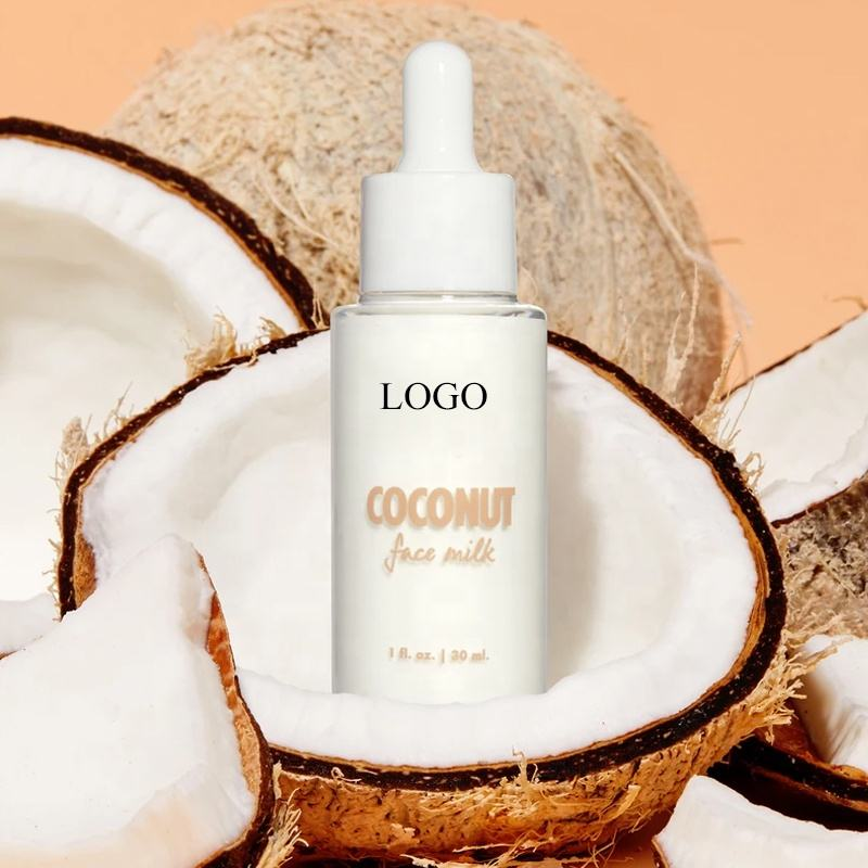 Private Label Popular Facial Serum Nutrition Whitening Brightening Coconut Strawberry Face Milk