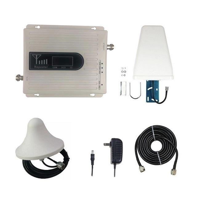 Triband GSM 2g 3g 4g lte mobile network booster 900/1800/2100mhz signal repeater with Antenna