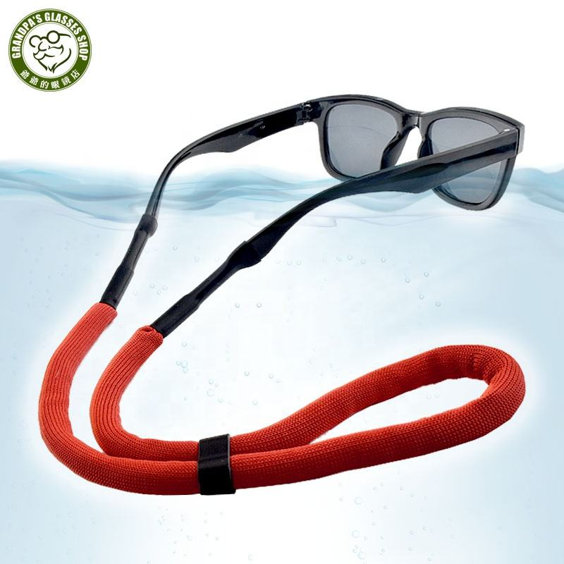 Wholesale bulk Multi color Water sports floating sunglasses retainer adjustable for surfing fishing Eyeglass Lanyard chain