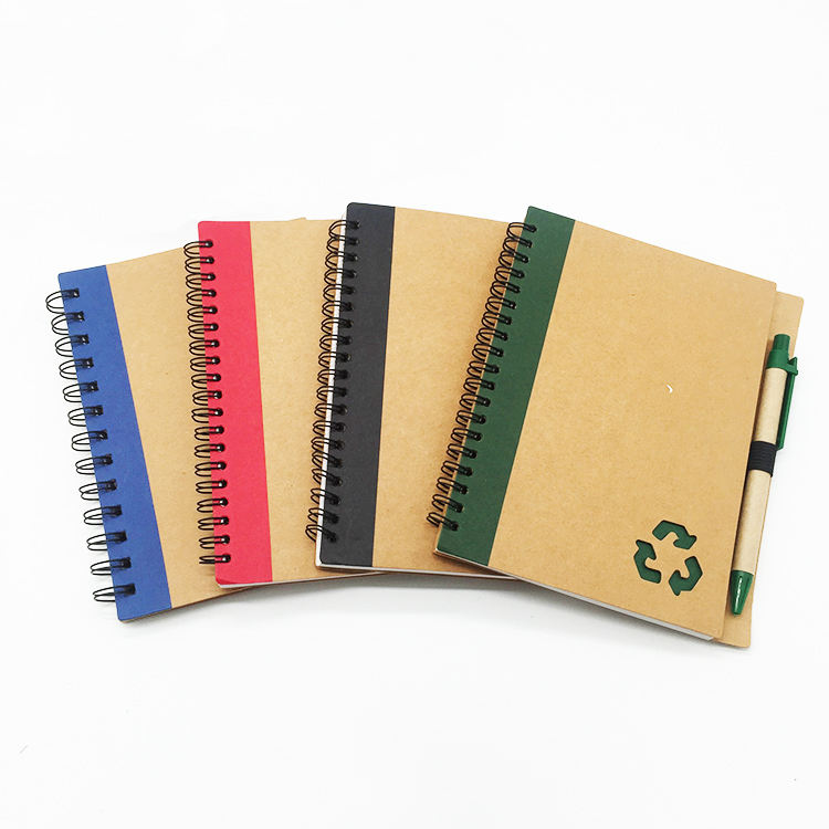 Custom Logo Printed Cheap Eco Cheap Mini Notebook With Pen For Office