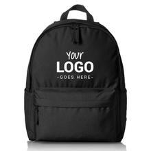 Custom LOGO Printed promotion polyester Unisex Gift travel bag waterproof foldable Hiking Basics Classic School Backpack