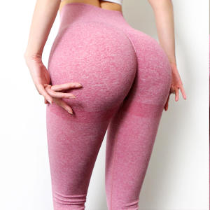 Frauen Nahtlose Hohe Taille Booty Gym Leggings Scrunch Butt Leggings